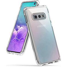 Samsung Galaxy S10e用極薄ソフトケース シリコンケース 耐衝撃 全面保護 クリア透明 K02 サムスン クリア