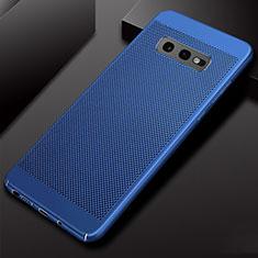 Samsung Galaxy S10e用ハードケース プラスチック メッシュ デザイン カバー W01 サムスン ネイビー