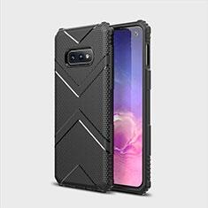 Samsung Galaxy S10e用360度 フルカバー極薄ソフトケース シリコンケース 耐衝撃 全面保護 バンパー C07 サムスン ブラック