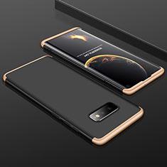 Samsung Galaxy S10e用ハードケース プラスチック 質感もマット 前面と背面 360度 フルカバー P01 サムスン ゴールド・ブラック