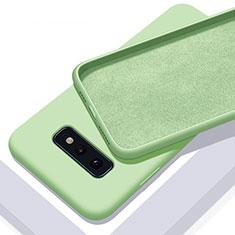 Samsung Galaxy S10e用360度 フルカバー極薄ソフトケース シリコンケース 耐衝撃 全面保護 バンパー C03 サムスン グリーン