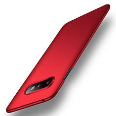 Samsung Galaxy S10e用ハードケース プラスチック 質感もマット カバー P01 サムスン レッド