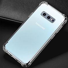 Samsung Galaxy S10e用極薄ソフトケース シリコンケース 耐衝撃 全面保護 クリア透明 K01 サムスン クリア