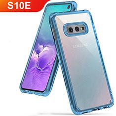 Samsung Galaxy S10e用極薄ソフトケース シリコンケース 耐衝撃 全面保護 クリア透明 H01 サムスン ブルー