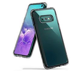 Samsung Galaxy S10e用極薄ソフトケース シリコンケース 耐衝撃 全面保護 クリア透明 H01 サムスン グレー