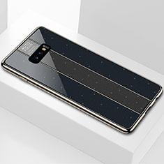 Samsung Galaxy S10e用ハイブリットバンパーケース プラスチック 鏡面 カバー M01 サムスン ブラック