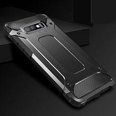 Samsung Galaxy S10e用360度 フルカバー極薄ソフトケース シリコンケース 耐衝撃 全面保護 バンパー S01 サムスン ブラック