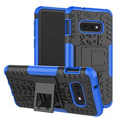 Samsung Galaxy S10e用ハイブリットバンパーケース スタンド プラスチック 兼シリコーン カバー サムスン ネイビー