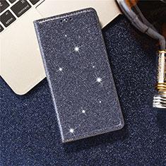 Samsung Galaxy S20 5G用手帳型 レザーケース スタンド カバー L07 サムスン ネイビー