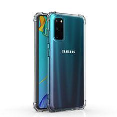 Samsung Galaxy S20 5G用極薄ソフトケース シリコンケース 耐衝撃 全面保護 クリア透明 カバー サムスン クリア