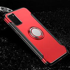 Samsung Galaxy S20 5G用ハイブリットバンパーケース プラスチック アンド指輪 マグネット式 R04 サムスン レッド