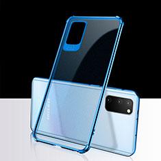 Samsung Galaxy S20 5G用極薄ソフトケース シリコンケース 耐衝撃 全面保護 クリア透明 S02 サムスン ネイビー