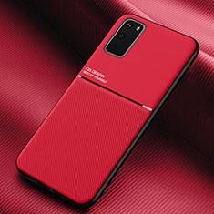 Samsung Galaxy S20 5G用360度 フルカバー極薄ソフトケース シリコンケース 耐衝撃 全面保護 バンパー C02 サムスン レッド