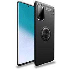 Samsung Galaxy S20 5G用極薄ソフトケース シリコンケース 耐衝撃 全面保護 アンド指輪 マグネット式 バンパー T01 サムスン ブラック