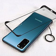 Samsung Galaxy S20 5G用ハードカバー クリスタル クリア透明 S02 サムスン ブラック