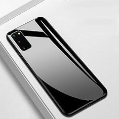 Samsung Galaxy S20 5G用ハイブリットバンパーケース プラスチック 鏡面 カバー T01 サムスン ブラック