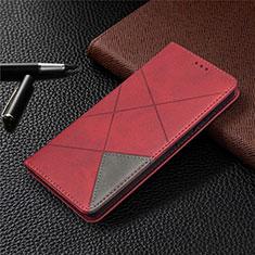 Samsung Galaxy S20 FE 5G用手帳型 レザーケース スタンド カバー サムスン レッド