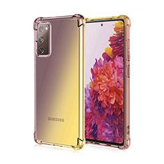 Samsung Galaxy S20 FE 5G用極薄ソフトケース グラデーション 勾配色 クリア透明 G01 サムスン ブラウン