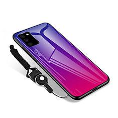 Samsung Galaxy S20 FE 5G用ハイブリットバンパーケース プラスチック 鏡面 カバー M01 サムスン ローズレッド