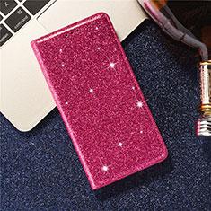Samsung Galaxy S20 Plus 5G用手帳型 レザーケース スタンド カバー L09 サムスン レッド
