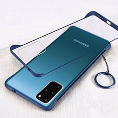 Samsung Galaxy S20 Plus 5G用ハードカバー クリスタル クリア透明 S02 サムスン ネイビー