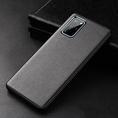 Samsung Galaxy S20 Plus 5G用ケース 高級感 手触り良いレザー柄 R03 サムスン ブラック