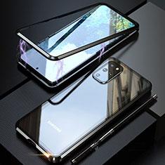 Samsung Galaxy S20 Plus 5G用ケース 高級感 手触り良い アルミメタル 製の金属製 360度 フルカバーバンパー 鏡面 カバー T01 サムスン ブラック