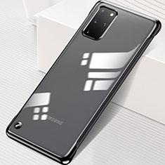 Samsung Galaxy S20 Plus 5G用ハードカバー クリスタル クリア透明 S01 サムスン ブラック