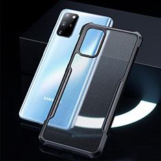 Samsung Galaxy S20 Plus 5G用ハイブリットバンパーケース クリア透明 プラスチック 鏡面 カバー H01 サムスン ブラック