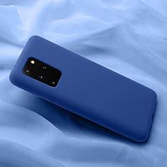 Samsung Galaxy S20 Plus 5G用360度 フルカバー極薄ソフトケース シリコンケース 耐衝撃 全面保護 バンパー C03 サムスン ネイビー