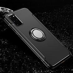 Samsung Galaxy S20 Plus 5G用ハイブリットバンパーケース プラスチック アンド指輪 マグネット式 R03 サムスン ブラック