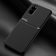 Samsung Galaxy S20 Plus 5G用360度 フルカバー極薄ソフトケース シリコンケース 耐衝撃 全面保護 バンパー C01 サムスン ブラック