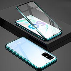 Samsung Galaxy S20 Plus 5G用ケース 高級感 手触り良い アルミメタル 製の金属製 360度 フルカバーバンパー 鏡面 カバー T02 サムスン グリーン