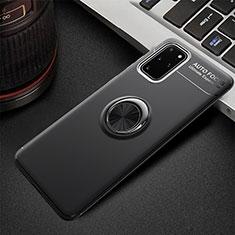 Samsung Galaxy S20 Plus用極薄ソフトケース シリコンケース 耐衝撃 全面保護 アンド指輪 マグネット式 バンパー T01 サムスン ブラック