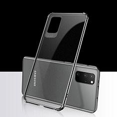 Samsung Galaxy S20 Plus用極薄ソフトケース シリコンケース 耐衝撃 全面保護 クリア透明 S03 サムスン ブラック