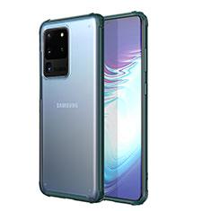 Samsung Galaxy S20 Ultra 5G用極薄ソフトケース シリコンケース 耐衝撃 全面保護 クリア透明 H02 サムスン グリーン