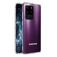 Samsung Galaxy S20 Ultra 5G用極薄ソフトケース シリコンケース 耐衝撃 全面保護 クリア透明 T02 サムスン クリア