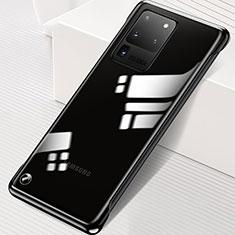 Samsung Galaxy S20 Ultra 5G用ハードカバー クリスタル クリア透明 S02 サムスン ブラック