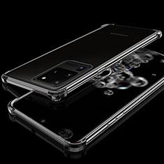 Samsung Galaxy S20 Ultra 5G用極薄ソフトケース シリコンケース 耐衝撃 全面保護 クリア透明 S03 サムスン ブラック