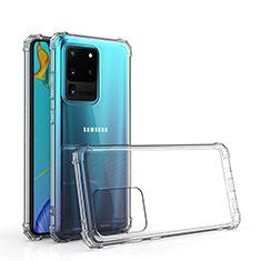 Samsung Galaxy S20 Ultra用極薄ソフトケース シリコンケース 耐衝撃 全面保護 クリア透明 カバー サムスン クリア