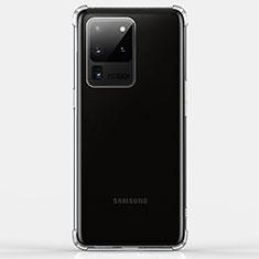 Samsung Galaxy S20 Ultra用極薄ソフトケース シリコンケース 耐衝撃 全面保護 クリア透明 K02 サムスン クリア