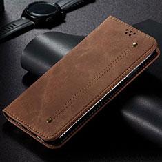 Samsung Galaxy S20 Ultra用手帳型 布 スタンド H01 サムスン ブラウン