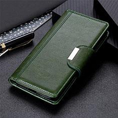 Samsung Galaxy S21 5G用手帳型 レザーケース スタンド カバー L01 サムスン グリーン