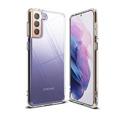 Samsung Galaxy S21 5G用極薄ソフトケース シリコンケース 耐衝撃 全面保護 クリア透明 T03 サムスン クリア