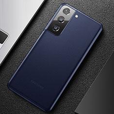 Samsung Galaxy S21 5G用極薄ケース クリア透明 プラスチック 質感もマットU01 サムスン ネイビー