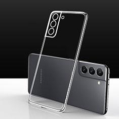 Samsung Galaxy S21 5G用極薄ソフトケース シリコンケース 耐衝撃 全面保護 クリア透明 カバー サムスン クリア