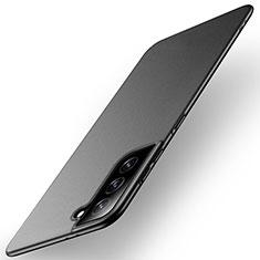 Samsung Galaxy S21 Plus 5G用ハードケース プラスチック 質感もマット カバー M01 サムスン ブラック