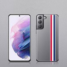 Samsung Galaxy S21 Plus 5G用ケース 高級感 手触り良いレザー柄 S02 サムスン マルチカラー