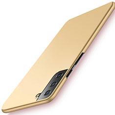 Samsung Galaxy S21 Plus 5G用ハードケース プラスチック 質感もマット カバー M02 サムスン ゴールド
