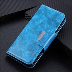 Samsung Galaxy S21 Ultra 5G用手帳型 レザーケース スタンド カバー L02 サムスン ブルー